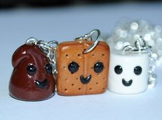 Kawaii Polymer Clay Smores Friendship by PumpkinPyeBoutique, $41.00 #Christmas #thanksgiving #Holiday #quote