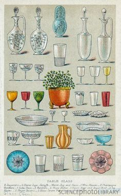 mrs. beeton's table glass.
