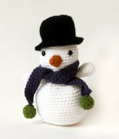 FREE PATTERN  ~ @  lionbrand.com MUST REGISTER FOR FREE  TO GET PATTERN Crocheted snowman - click thru to find, register to get instructions