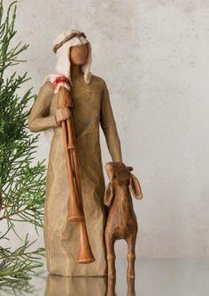 Demdaco Willow Tree Figurine, Zampognaro Plus Willow Tree Nativity Set, Willow Tree Figures, Willow Tree Angels, Nativity Sets, Nativity Crafts, Christmas Nativity, Christmas Wood, Wood Crafts, Christmas Crafts