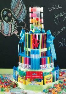 Art supplies 'cake' - for a teacher, GS leader, for a budding artist...