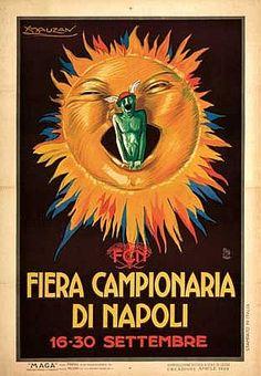 LUCIANO ACHILLE MAUZAN (1883-1952). FIERA CAMPIONARIA DI NAPOLI. 1922. 39x 27 inches, 99x69 cm. Pietro Verri, Milan.