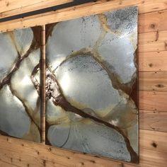 Industrial metal barn door | Etsy Barn Door Sliders, Bathroom Barn Door, Cool Things To Make, Things To Sell, Vault Doors, Kind And Generous, Morris, Metal Barn, Metal Clock