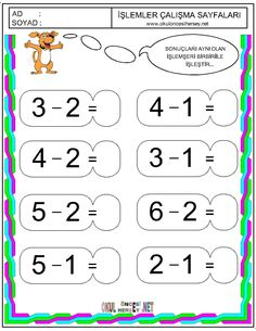 Grade R Worksheets, Printable Math Worksheets, Kindergarten Math Worksheets, Preschool Math, Math Activities, Math For Kids, Fun Math, Learn Arabic Alphabet, Alphabet Writing