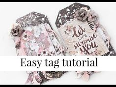 Easy tag tutorial. Featuring Prima Rose Quartz collection - YouTube