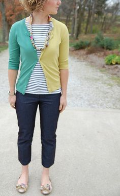 DIY Two-Tone Cardigan by Stacie Stacie Stacie, via Flickr