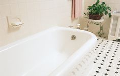 Refinishing your cast-iron or steel tub is cheaper than replacing it, and the finish can last for over a decade. Learn more about tub resurfacing at This Old House. Cast Iron Tub Refinish, Cast Iron Bathtub, Old Bathtub, Clawfoot Bathtub, Tub Resurfacing, Bathtub Caulking, Bathtub Replacement