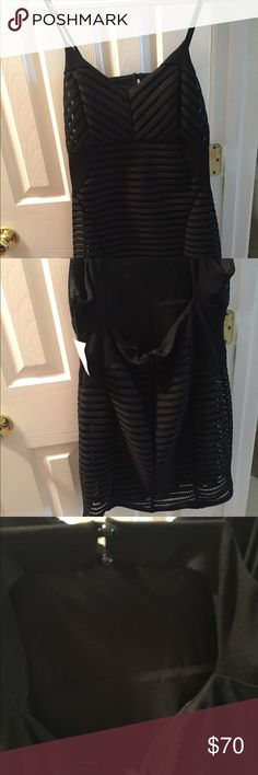 LBD Sexy LBD with stretch lining  2 buttons at top. Open back, zip to lower back Flatters and hides the flaws some of us may have.  NWT. From Nordstrom. Dresses Mini