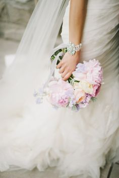#Bracelet   #Bouquet    featured in SMP's fashion magazine   See the wedding on SMP: http://www.stylemepretty.com/2013/11/14/toronto-wedding-at-the-burroughs-building-from-mango-studios    Photography: Mango Studios