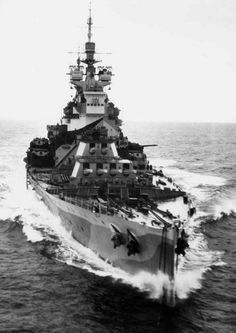 King George V- class battleship HMS Howe.