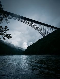 New River Gorge Bridge, WV at Twilight