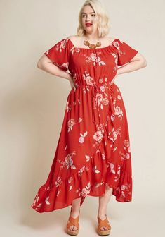 Lovely on Location Maxi Dress