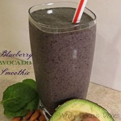 Blueberry Avocado Smoothie by WhollyDelicousDishes