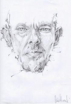 Alexander McQueen portrait by Davide Petraroli