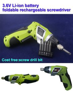 3.6V foldable rechargeable lithium screwdriver torque electric screwdriver to adjust the mini drill .free shipping