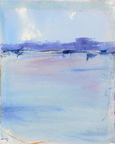 ON SALE Bay Side 20x16 Contemporary Abstract Painting by Jacquie Gouveia, $425.00
