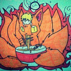 #by: paja.priba #art🎨 #pencil #girl #fanart #painting #naruto #chibi #kyuubi #fox #orange #anime #ramen🍜