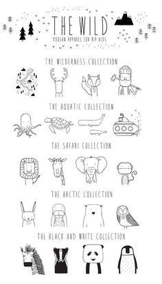 Modern Unisex Grey Kids T Shirt Lars the von TheWi. - Modern Unisex Grey Kids T Shirt Lars the von TheWi. Illustration Simple, Illustration Design Graphique, Doodle Drawings, Animal Drawings, Doodle Art, Doodle Ideas, Animal Doodles, Modern Kids, Stencil