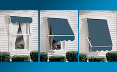 http://www.mobilehomerepairtips.com/exteriorwindowawnings.php has some information how to choose the right exterior window awning for your mobile home.