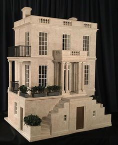 Preview of Birch Hill by Mark Turpin 2017 — email: info@markturpin.com #architecturalminiature #miniaturehouses #miniaturedollhouse #dollhouses #dollhouseminiature #miniatures #miniaturehouse