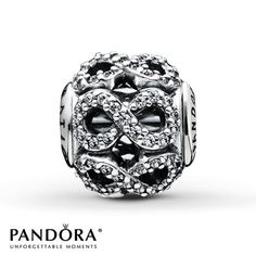 Pandora Dedication Charm Clear CZ Sterling Silver ** looks like the symbol for infinity**
