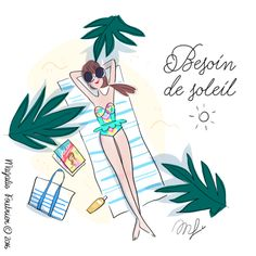 Fashion Ilustration Summer Watercolors 22 New Ideas Art Mignon, Beach Illustration, Hello Weekend, Naive Art, Cute Drawings, Cute Art, Artsy, Sketches, Watercolor