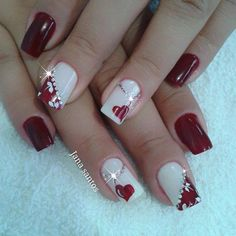 In search for some nail designs and some ideas for your nails? Listed here is our listing of must-try coffin acrylic nails for cool women. Heart Nail Designs, Valentine's Day Nail Designs, Acrylic Nail Designs, Acrylic Nails, Holiday Nails, Christmas Nails, Gel Nail Art, Nail Polish, Valentine Nail Art