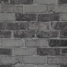 x Faux Running Brick Wallpaper Brick Wallpaper, Cool Wallpaper, Brick Colors, Cladding, Curb Appeal, Home Remodeling, Tile Floor, Hardwood Floors, Concrete