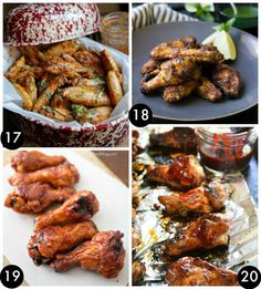 Peach Chipotle Chicken Wings,  Tandoori Chicken Wings, Crispy Honey Baked BBQ Wings, and Plum Glazed Barbecue Drumettes.. Finger Licking Fabulous Wings on Frugal Coupon Living - Sweet, Salty, Savory, Bake, Fried, in the Crock Pot, To Die For and more These Wing Recipes are perfect for a tailgate, home party and more!