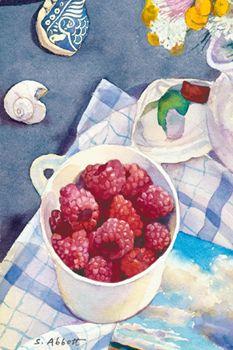 ✿Basket fruits & Vegetables✿ berry in the basket ~ Susan Abbott
