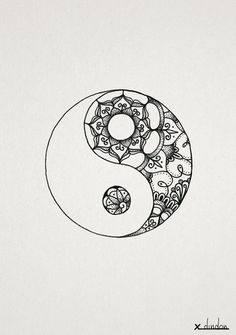 yin yang mandala - Google Search #simple_tattoo_mandala