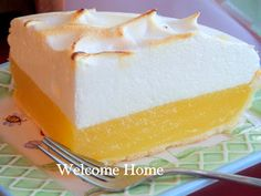 Welcome Home: ♥ My Mom's Lemon Meringue Pie