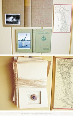 Repurpose old books as picture frames!