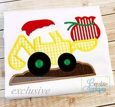 Santa Digger Applique - 4 Sizes! | What's New | Machine Embroidery Designs | SWAKembroidery.com Creative Appliques