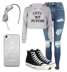 """Gray Day"" by pjshirwit on Polyvore featuring Topshop and Converse"