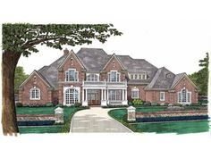 Eplans New American House Plan - Sophisticated Aura - 5388 Square Feet and 5 Bedrooms(s) from Eplans - House Plan Code HWEPL06775