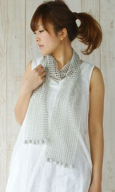 Crochet lacy shawl. Free pattern - diagram/Japanese.