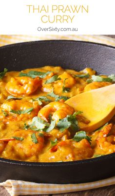 Thai Prawn Curry - If you're after a quick meal that tastes delicious, this easy seafood curry takes less than 20 minutes to make.