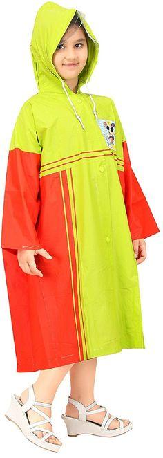 Real Parrot Green Baggy Printed Raincoat #Raincoat