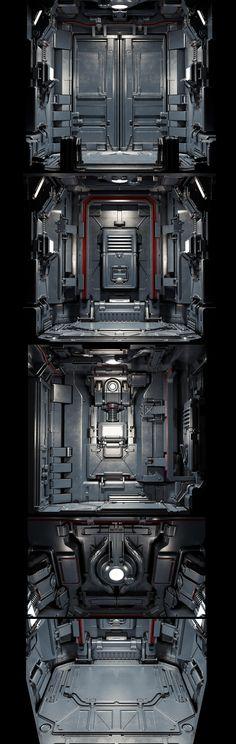 Doom elevator redesign on Behance