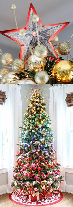 Christmas Tree Decorating Ideas - beautiful and unique christmas trees #christmas #christmastree #christmasdecor #holidaydecor