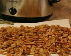 Snack mix - Slow Cooker
