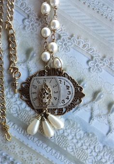 Faces of Time Steampunk Necklace by TrinketsThroughTime on Etsy