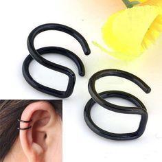 Clip-on-Wrap-Non-Pierced-Men-Earrings