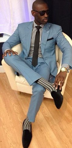 All the right details. Love the shade of blue in this suit. #tunein #masterfulmix #Zappos