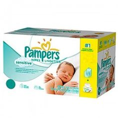 Maxi Pack 648 Lingettes Bébés Pampers Sensitive - 12 Packs de 56 sur Couches Zone