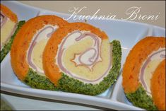 Rolada Trójkolorowa Finger Foods, Catering, Sushi, Food And Drink, Appetizers, Eggs, Sweets, Breakfast, Ethnic Recipes