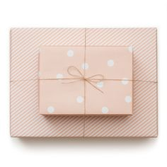Polka Dot and Stripe Gift Wrap Wedding Gift Packaging Ideas