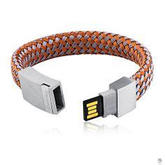 PULSEIRA USB 4 GB CINZA E COBRE ROSSO UOMO