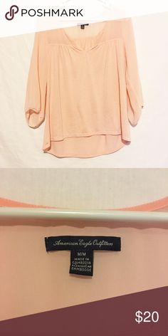 ❤️AEO Long Sleeve Shirt❤️ Excellent condition. Material Chiffon/cotton. Size m. 3/4 Sleeve. American Eagle Outfitters Tops Tees - Long Sleeve